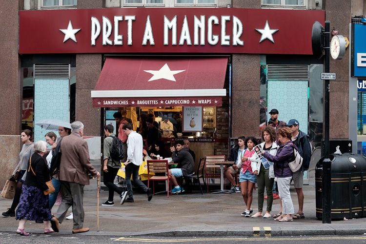 If Pret-a-Manger is now a big, bad business, what does this say about the company you do PR for?